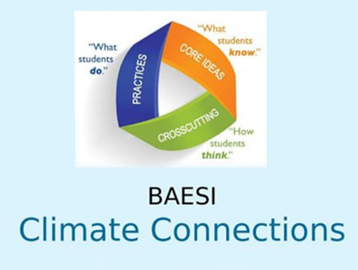 BAESI Climate Connections Workshop Resources, March 2018